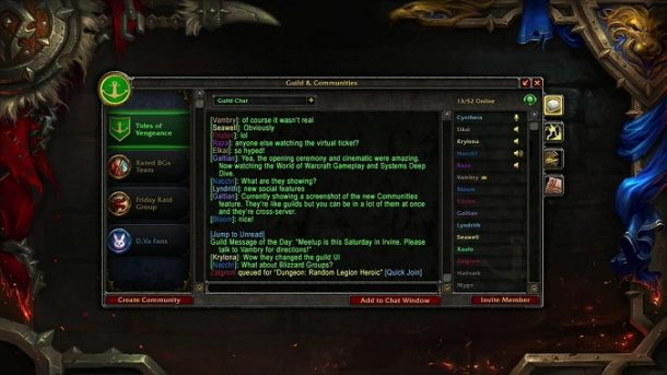 world of warcraft communities could you eventually create your